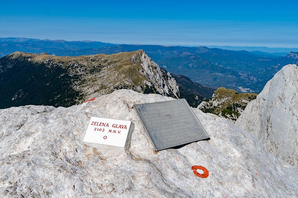 Highest peak of the Prenj mountain - Zelena glava