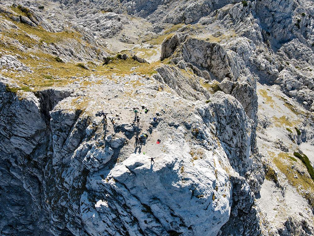 Hikers enjoying time at Zelena glava peak (2155m) at Prenj massif