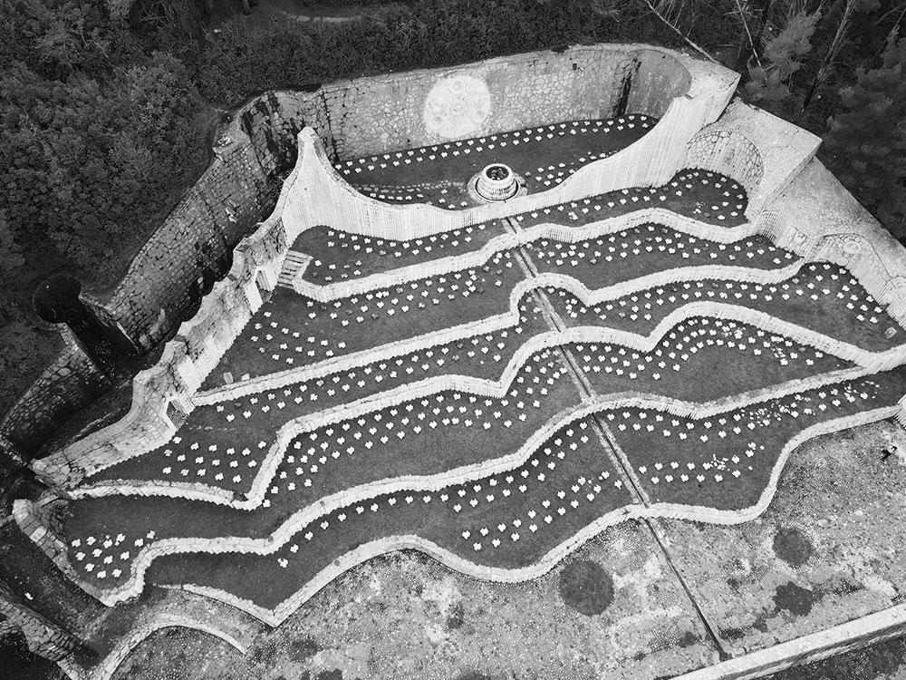 Mostar partisan cemetery by design of Bogdan Bogdanovic built in 1965