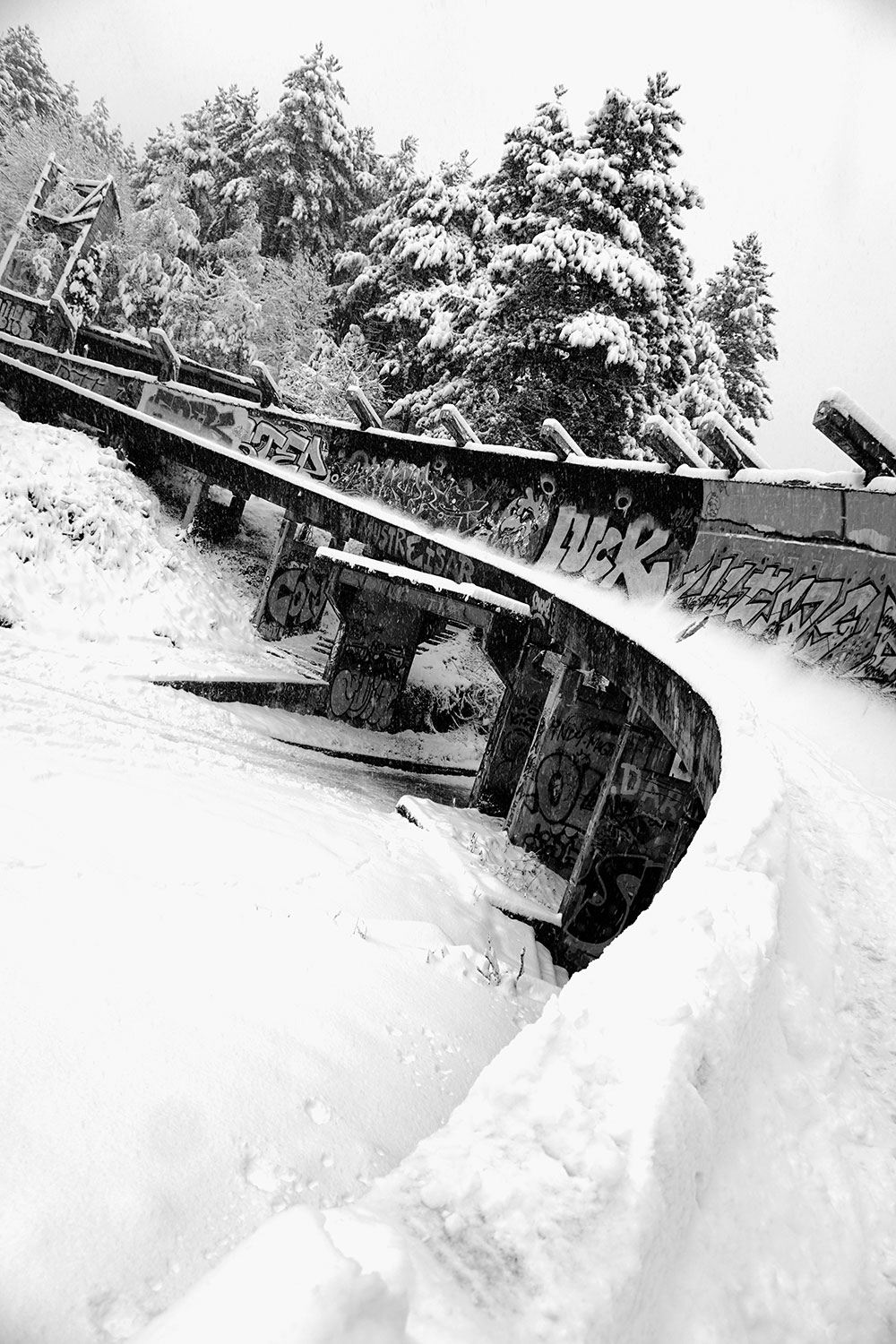 Olympic bobsled Sarajevo, built for 1984 Winter Olympic games