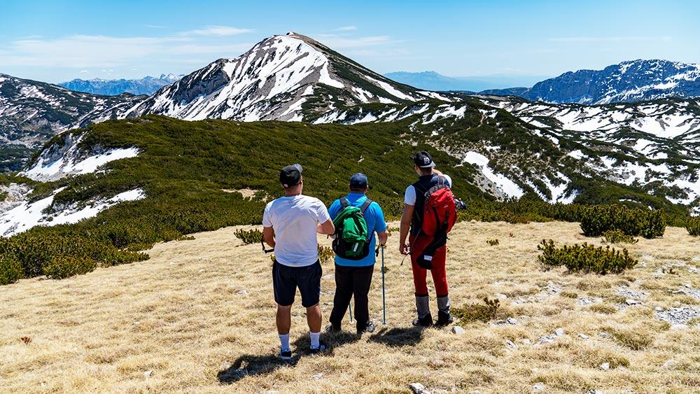 Overlooking beautiful peaks of Cvrsnica mountain