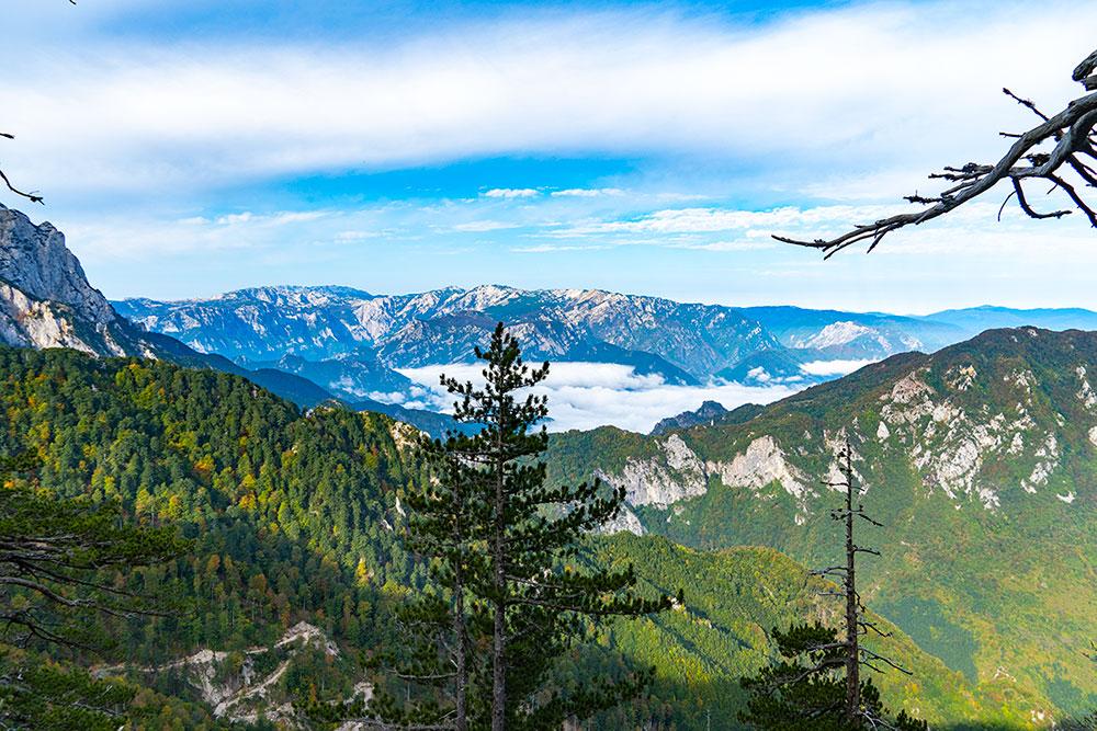 Panorama of Neretva river valley from Prenj mountain