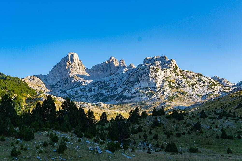 Prenj mountain peaks - Otis and Zelena glava observed from Tisovica valley