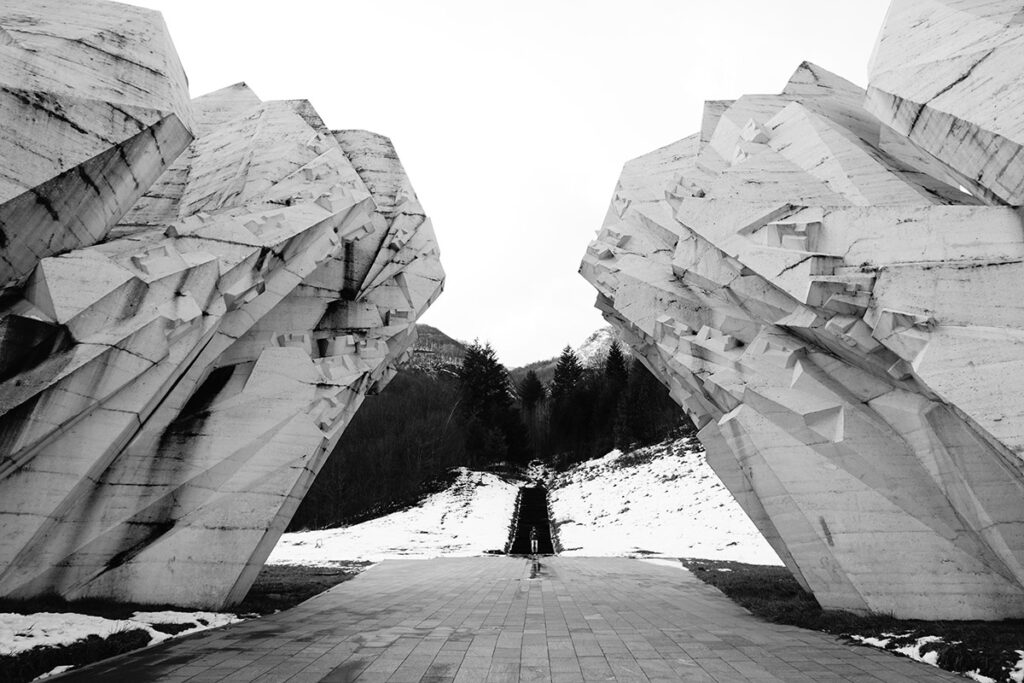 Sutjeska battle memorial at Tjentiste