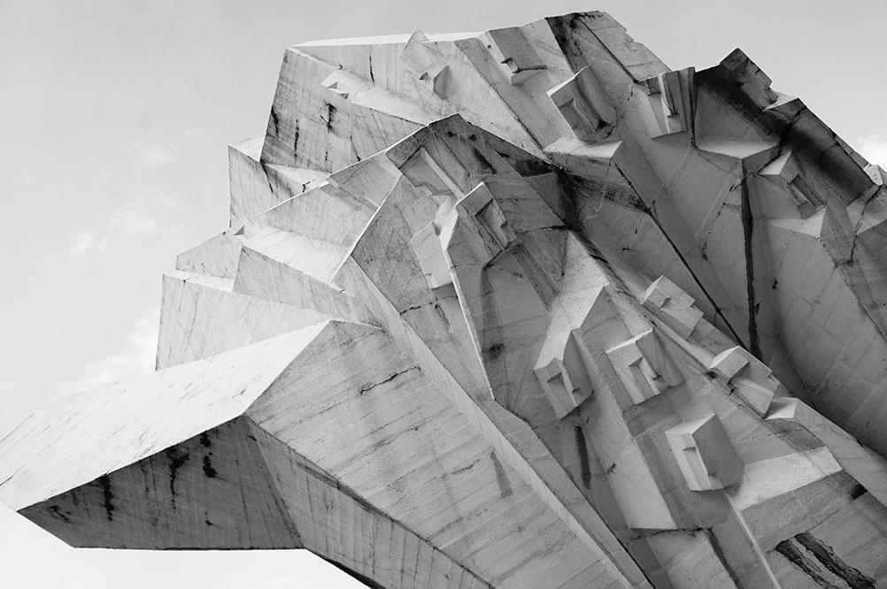 Tjentise memorial for Sutjeska battle - sculpture made by Miodrag Zivkovic