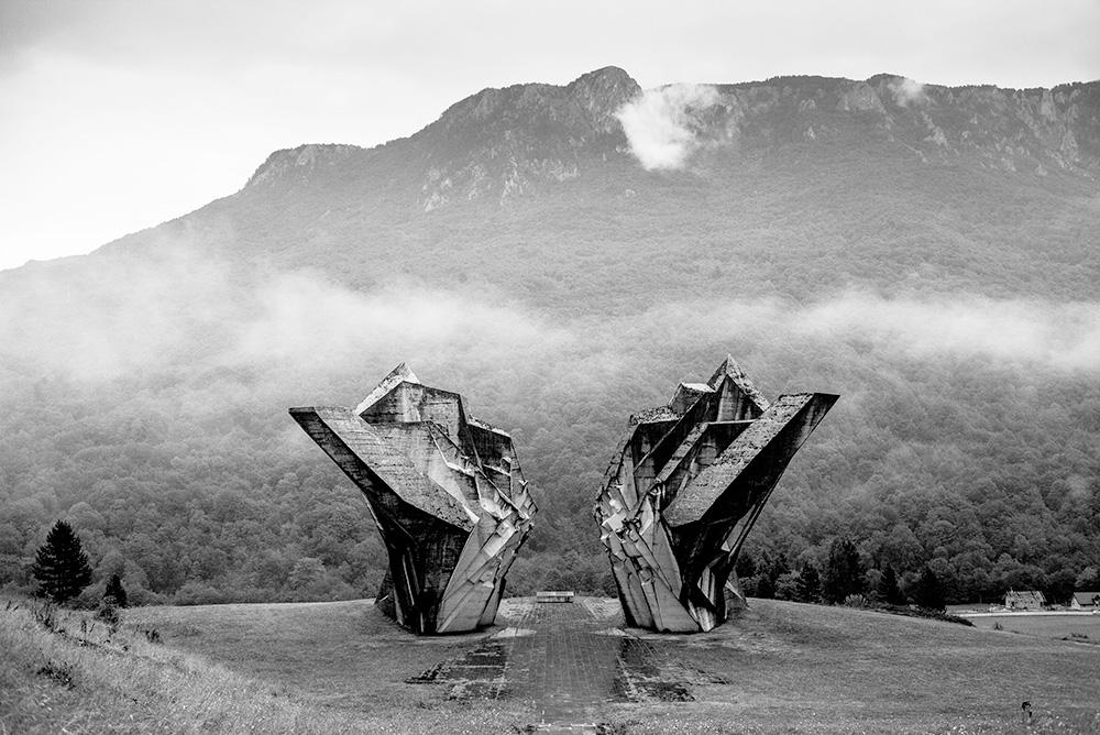 Tjentiste Memorial at Sutjeska National Park - Bosnia and Herzegovina
