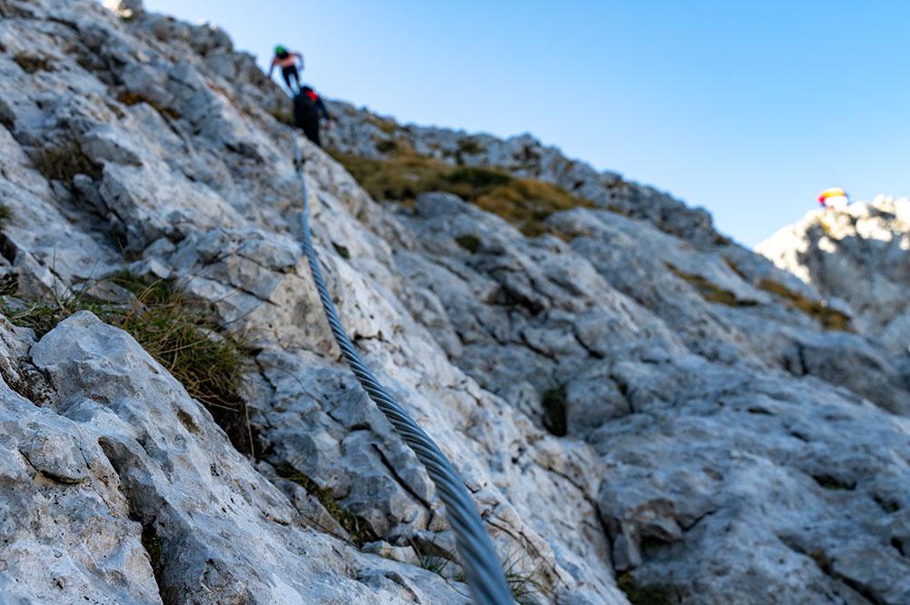 Via Ferrata located just under the highest peak of the Prenj mountain Zelena glava