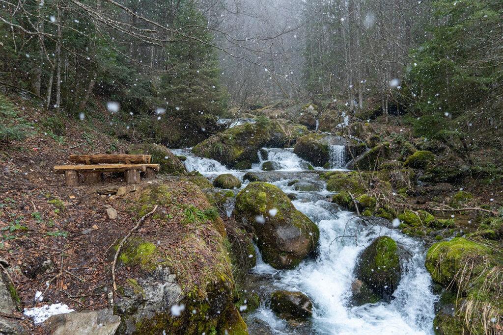 Beautiful Jezernica creek at Vranica mountain