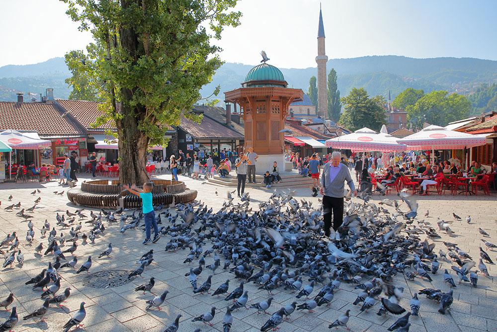 Sarajevo Sebilj at Bascarsija square