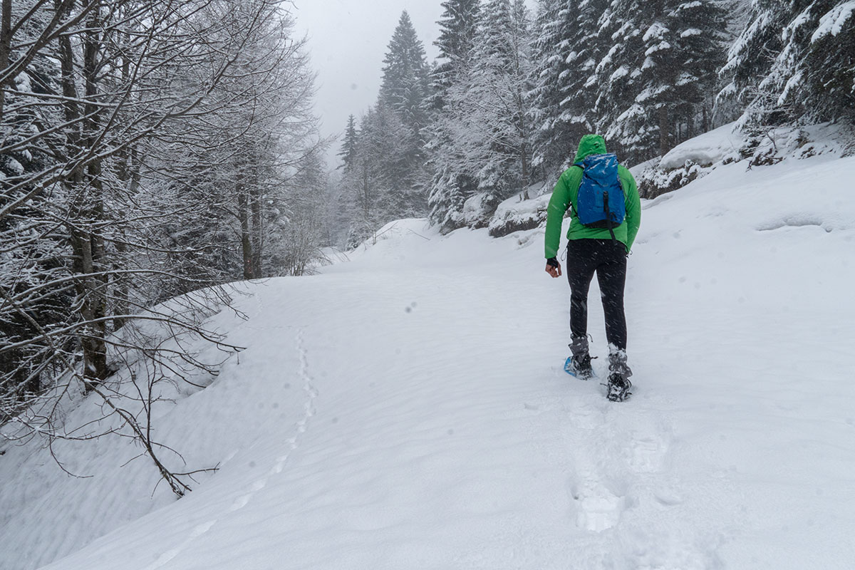 During the winter snowshoeing towards Prokosko lake under the fresh snow is very unique experience