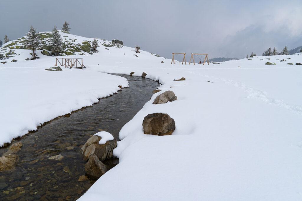 Winter time at Prokosko lake at Vranica mountain