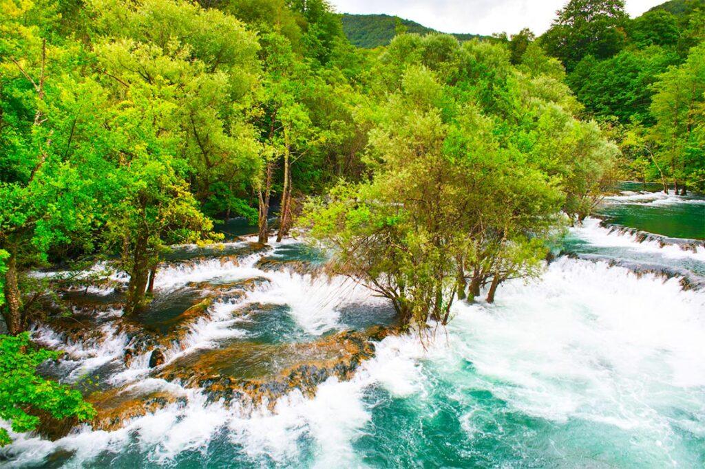 Martin Brod Waterfalls at Una National Park