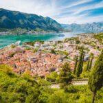 Kotor old town and Kotor bay in Montenegro
