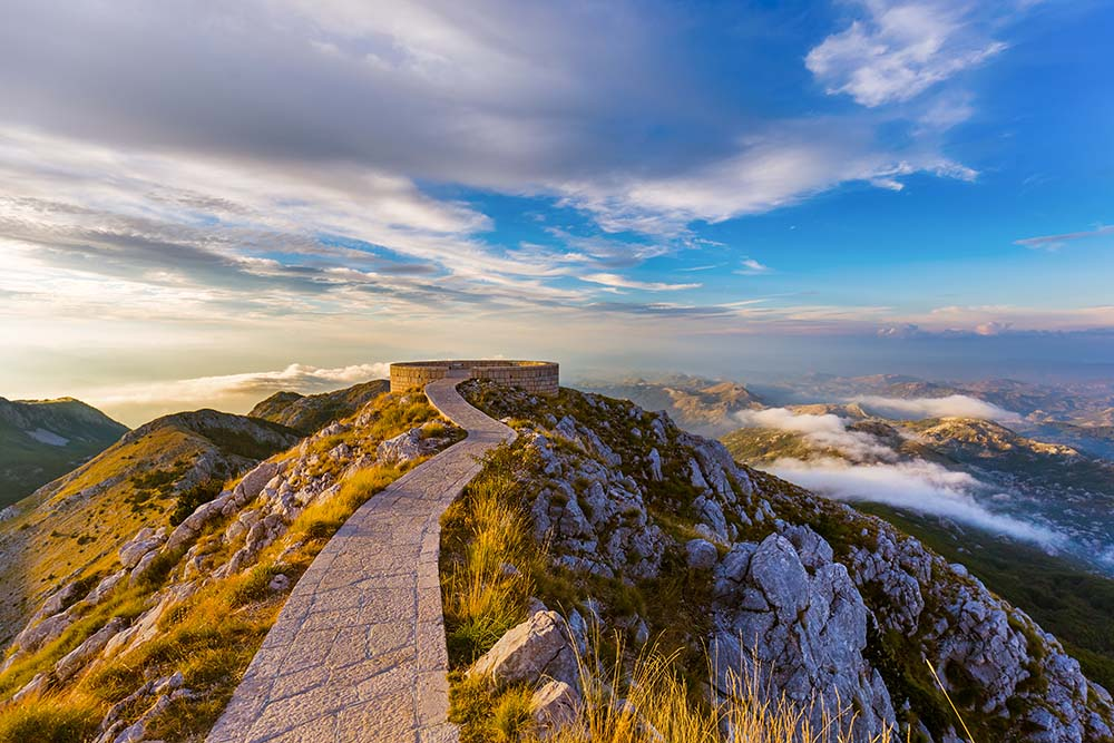 Lovcen National Park Observation post at Petar II Petrovic Njegos Mausoleum