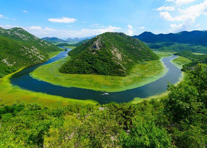 Rijeka Crnojevica at Skadar Lake National Park